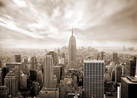 Skyline New York - sepia wall mural